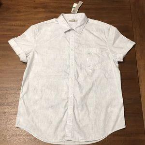 NWT Calvin Klein Short Sleeve Button Down Shirt.